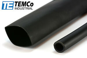 10 Lot Temco 1 Marine Heat Shrink Tube 3 1 Adhesive Glue Lined 4 Ft Black