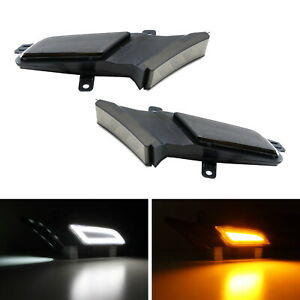 Smoked Amber white Switchback Led Side Marker Lights For 07 10 Porsche Cayenne