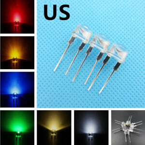 Super Bright 8mm Straw Hat 0 5w 6 Colors Light emitting Diodes Lamp Leds To Diy