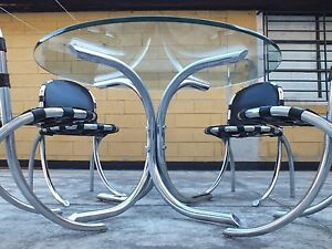 Medusa Table And 4 Chairs Studio Tetrarch Design By Bazzani Italy 69 Rare Set