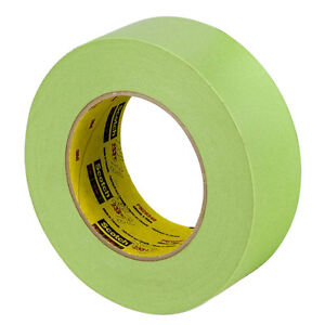 3m 26340 2 Green Masking Tape 233 Automotive 1 Roll Made In Usa