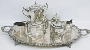 Antique Reed And Barton 1914 Silver Plate Set Coffee