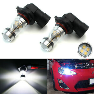 X bright 6000k White 100w 9005 H10 Led Bulbs High Beam Drl Lights Or Fog Lamps