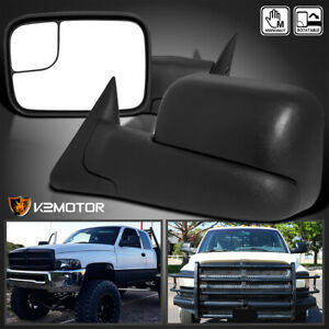94 01 Dodge Ram 1500 94 02 2500 3500 Manual Flip Up Towing Mirrors Left Right