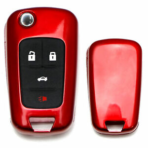 Exact Fit Glossy Red Smart Key Fob Shell Cover For Chevrolet Gmc 3 4 5 Buttons