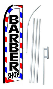 Barber Shop Extra Wide Swooper Flag Kit