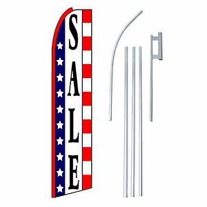 Sale Red White Blue Extra Wide Swooper Flag Kit
