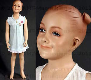 Child Mannequin Smiling Happy Girl Abt 2 Years Old Hand Made Manikin valerie