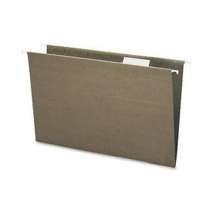 Smead 65061 Standard Green 100 Recycled Hanging File Folders With Tab Legal