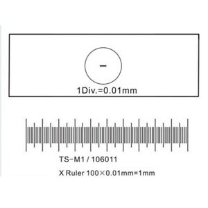 Amscope Microscope Stage Calibration Slide For Usb Camera 0 01mm Micrometer