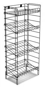For Sale Floor Flat Or Slanted 4 Shelf Wire Display Rack black