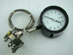Ascroft Pressure Gauge 0 To 200 Psi Ametek Diaphragm Seal Dia316l St Stl