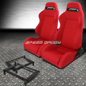 Pair Type r Red Reclinable Racing Seat low mount Bracket For 02 06 Dc5 Acura Rsx