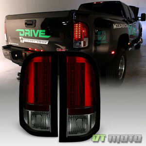 2007 2013 Chevy Silverado 1500 2500hd 3500hd Red Smoke Lumileds Led Tail Lights
