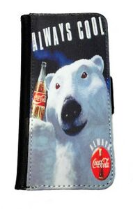 COCA COLA BEAR SAMSUNG GALAXY & iPHONE CELL PHONE CASE LEATHER COVER WALLET