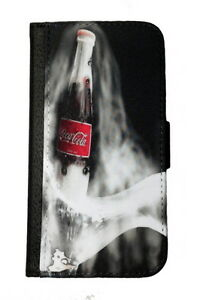 COCA COLA SAMSUNG GALAXY & iPHONE CELL PHONE CASE LEATHER COVER WALLET