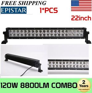 22inch 120w Combo Led Work Light Bar Off Road Driving Suv Boat 4wd Atv Truck 20