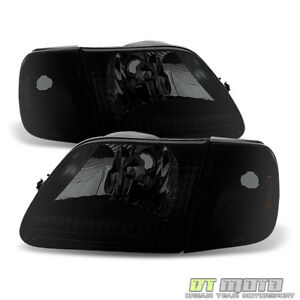 4pc Black Smoke 1997 2003 Ford F150 Expedition Headlights signal Corner Lamps