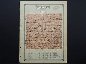 Minnesota Fillmore County Map 1915 Township Of Amherst W17 98