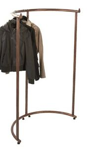 Floor Half Round Clothes Display Rack cobblestone