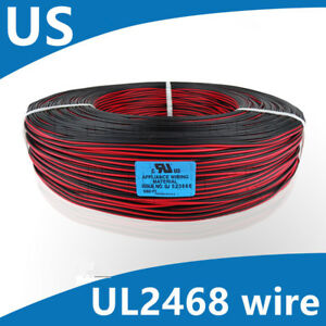 Flexible Stranded Of 22awg 28awg 2 Pin Ul 2468 Pvc Flat Ribbon Electronic Wire