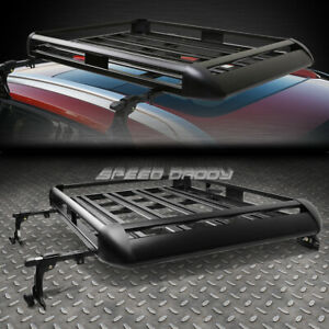 50 x 38 aluminum Roof Rack Suv Top Cargo Luggage Carrier Basket crossbar Black