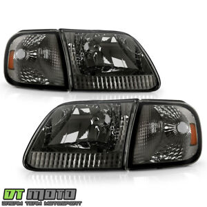 Smoke 1997 2004 Ford F150 Expedition 97 99 F250 Headlights corner Signal Lamps