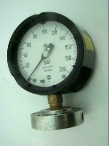 Usg Pressure Gauge Max 200 Psi With Ametek Diaphragm