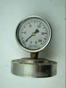 Ashcroft Pressure Gauge Max Psi 200 With Ametek Diaphragm