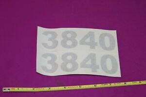 Montana 3840 Tractor Number Decal Set Of 2