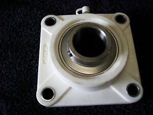 Suctf206 19 1 3 16 Stainless Bearing In Thermoplastic 4 Bolt Flange