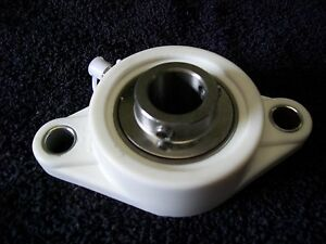 Suctfl206 19 1 3 16 Stainless Bearing In Thermoplastic 2 Bolt Flange