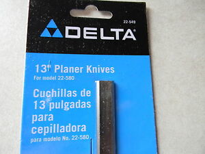 Delta 13 Portable Planer Knives 22 549 2 Knife Set For The 22 580 And Others