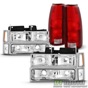 1994 1998 Chevy C K Suburban Tahoe Headlights Corner Bumper Lamp Tail Lights