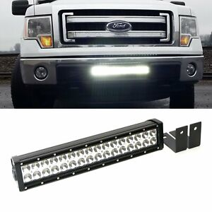 96w Led Light Bar W Lower Bumper Mounting Bracket Wirings For 09 14 Ford F 150