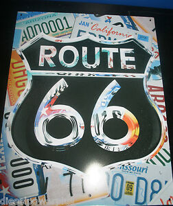 Vintage Replica Tin Metal Sign Route 66 Street Cafe License Plate Travel 98407