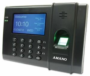 Amano Fpt 80 a959 Biometric Employee Fingerprint Time Clock Tracking System New
