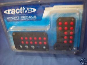 Ractive Sport Pedals black And Red
