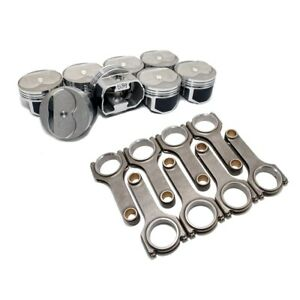Wiseco Pts502a6 Pro Tru Pistons Sbc 350 Dome 60 Over Bore W Scat H beam Rods