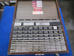 Starrett weber Gage M m Sq 112 Pc Jo Block Set E 0006
