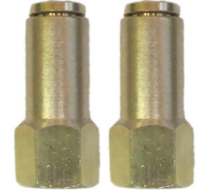 Air Suspension System 2 Brass Fittings 3 8 Npt Female To 1 4 Air Hose Push In
