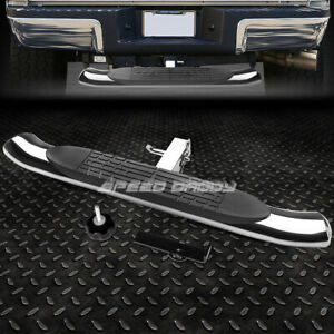 37 X 4 Oval 2 Receiver Chrome Trailer Towing Tailgate Hitch Rear Step Bar Pedal