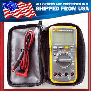 New Fluke Digital Multimeter F18b Led Tester 18b Voltmeter Warranty 1y
