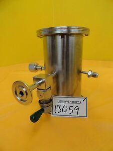 Mks High Vacuum Tube Tee Stainless Iso100 4vcr 8vcr Nw25 Nupro Ss dltw4 Used
