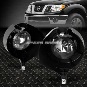For 05 15 Nissan Frontier Chrome Bumper Clear Lens Fog Light Replacement Lamps