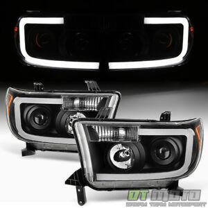 For Black 07 13 Toyota Tundra 08 17 Sequoia Smd Optic Led Projector Headlights