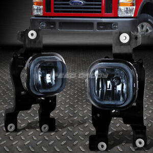 For 08 10 Ford Superduty Truck Smoked Lens Oe Bumper Driving Fog Light Lamp Pair