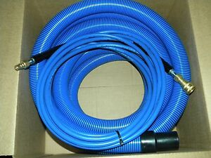 Carpet Cleaning 25ft Vacuum Solution Hoses W qd Blue