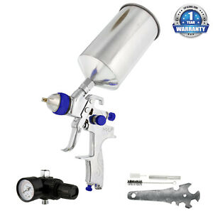Pro 1 5 Hvlp Gravity Spray Gun Regulator Auto Car Paint Clearcoat Topcoat Primer