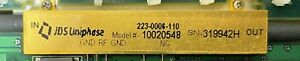 Jdsu 2 5g Modulator S5150 001833 Used Working With Pm Panda Fiber Input Pigtail